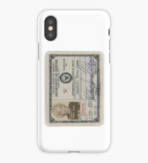 Monroe Dept of Defense Card iPhone Case/Skin