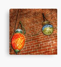 Apothecary Show Globes Canvas Print