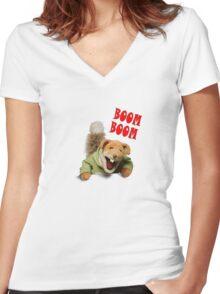 boom boom basil brush Women's Fitted V-Neck T-Shirt