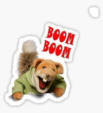 boom boom basil brush Sticker