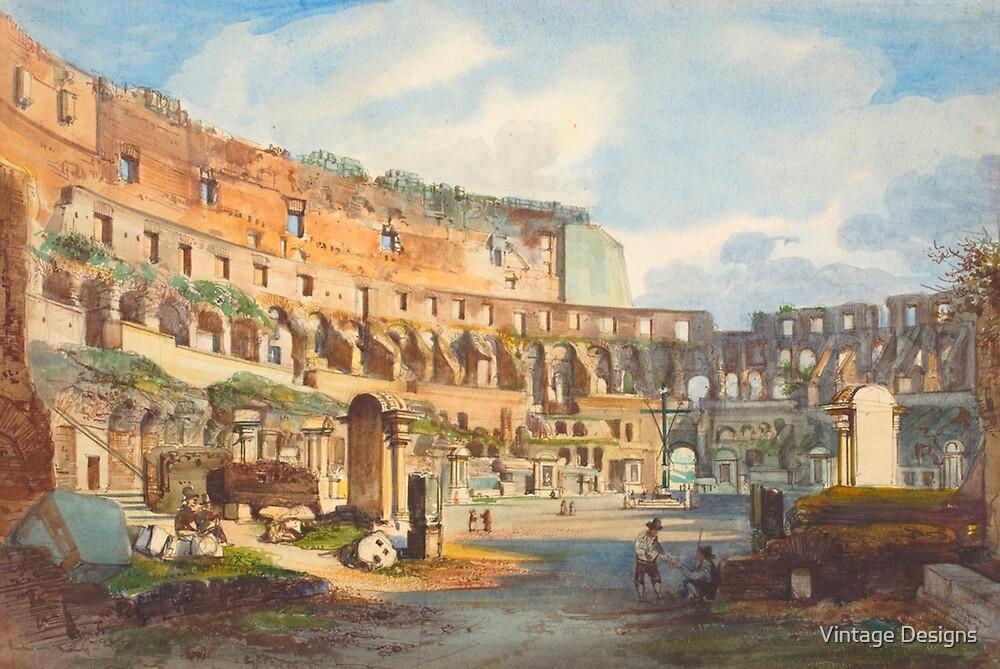Coliseum Painting by Vintage Designs