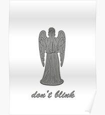 Weeping Angel -Don't Blink (script font) Poster
