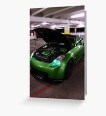 Rev-Illusion Nissan 350Z Greeting Card