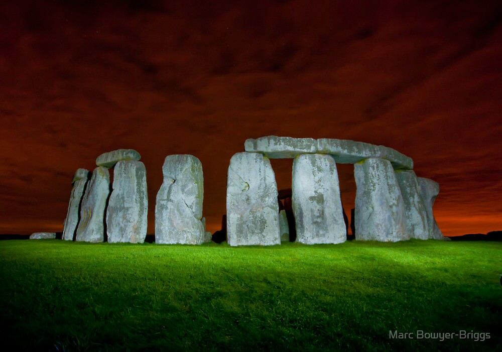 Stonehenge - Lit at night by Marc Bowyer-Briggs