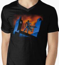 Sherlock Cartoon Men's V-Neck T-Shirt