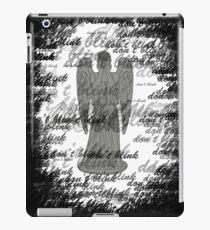 Weeping Angel -Don't Blink (scatter script) iPad Case/Skin