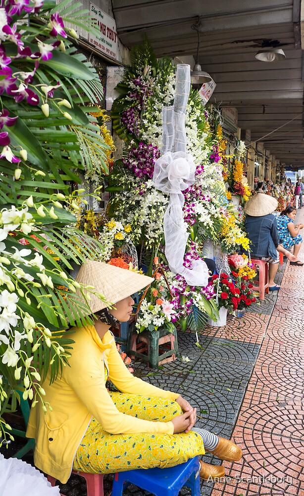 flower seller by Anne Scantlebury
