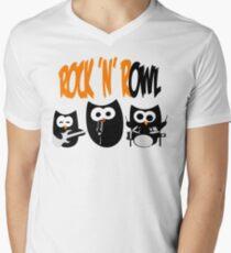 Rock'n'R-OWL Men's V-Neck T-Shirt