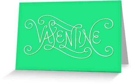 Valentine Lettering by janna barrett