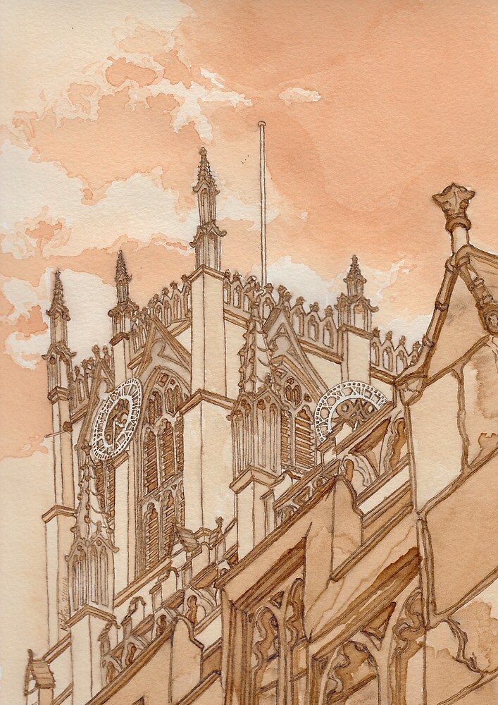 Holy Trinity Church (In Tea and Coffee) by acrichton