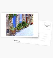 The Blue Doors Of A Provencal Village Postcards