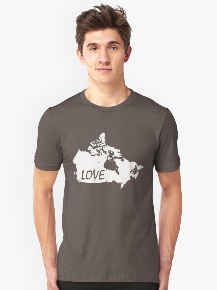 Canada Love Unisex T-Shirt Front
