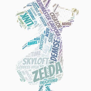 Skyward Sword Zelda Wordle by LinkXavier