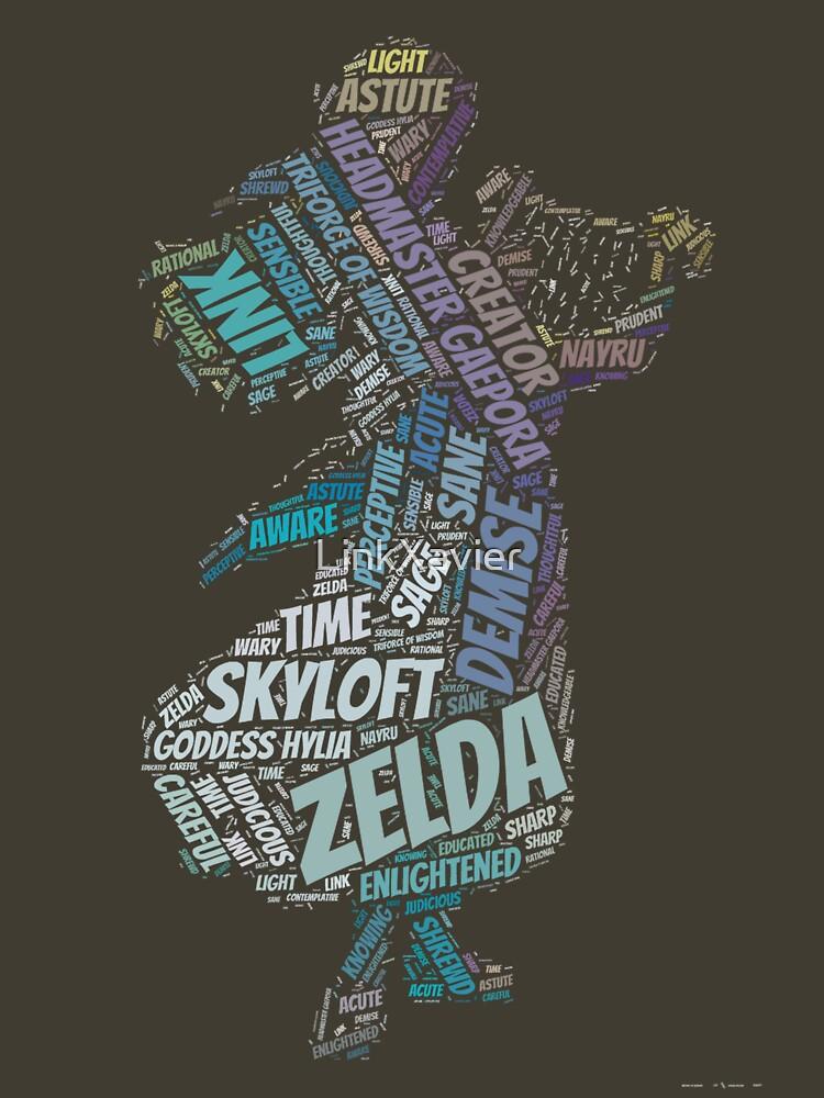 Skyward Sword Zelda Wordle by LinkXavier