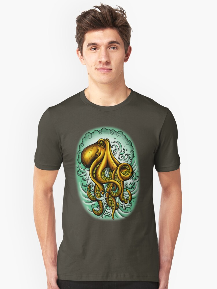 Traditional Octopus Unisex T-Shirt Front