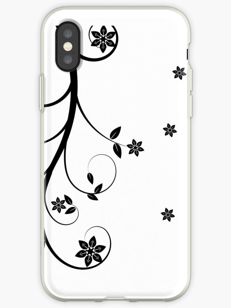 Pretty Black Flower Art by onestopgiftshop
