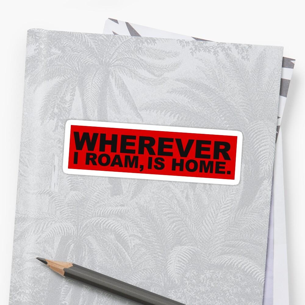 WHEREVER Bumper Sticker - Red by Danie Day