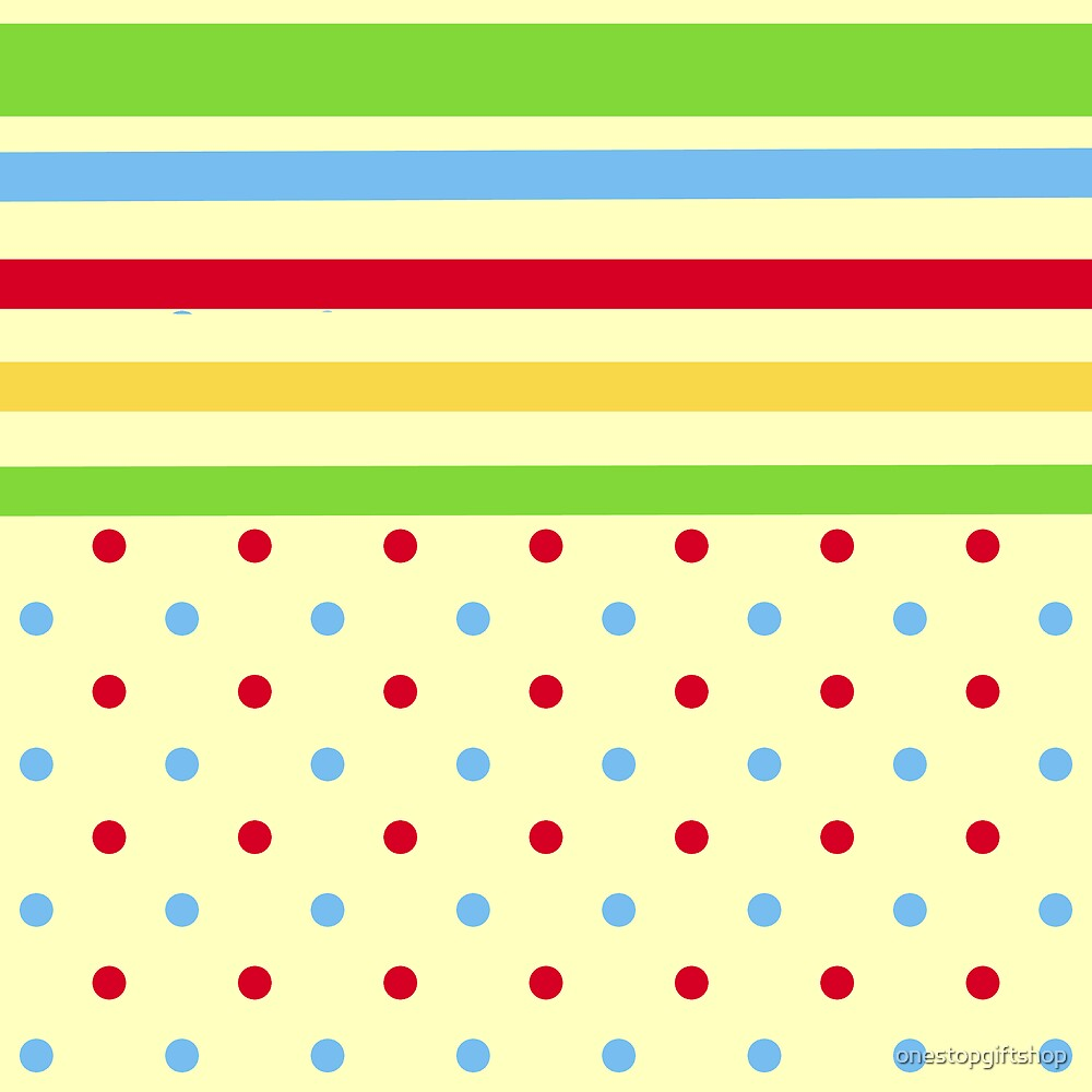 Colorful Stripes and Polka Dots by onestopgiftshop