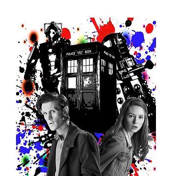 11th doctor &Amy Pond by kayzaa