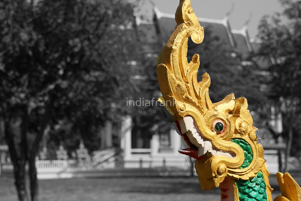 Gold on black and white, Thailand by indiafrank