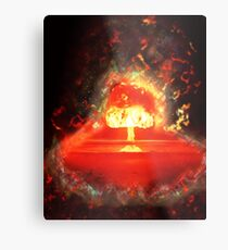 Famous humourous quotes series: Atomic mushroom explosion  Metal Print