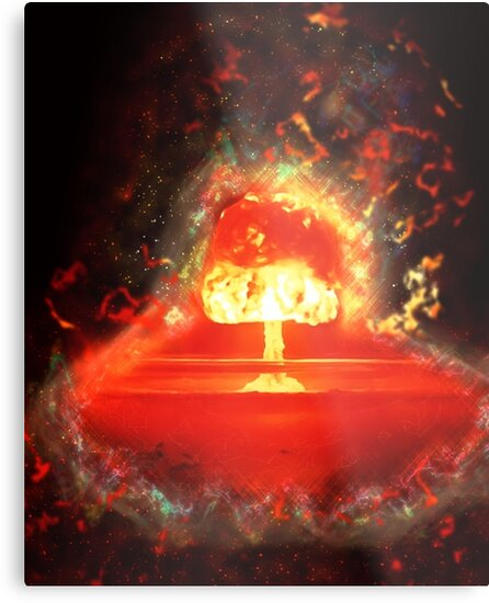 Famous humourous quotes series: Atomic mushroom explosion  by PhotoStock-Isra