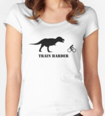 T-Rex Bike Training Women's Fitted Scoop T-Shirt