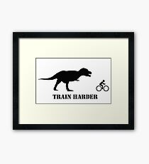 T-Rex Bike Training Framed Print
