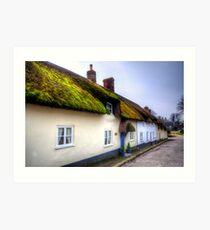 Tolpuddle Cottages Art Print