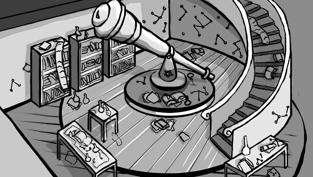 The Observatory Sketch by CindersPrince