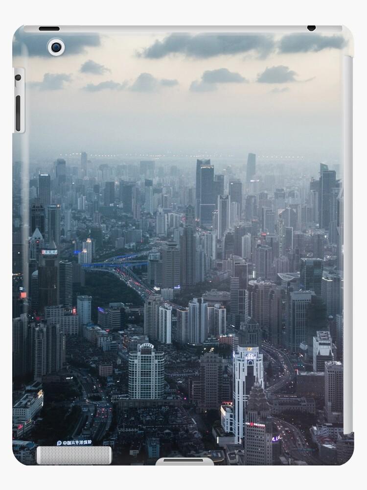 Crisp blue Shanghai city view by Steve Björklund