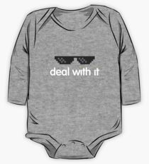 deal with it (white text) One Piece - Long Sleeve