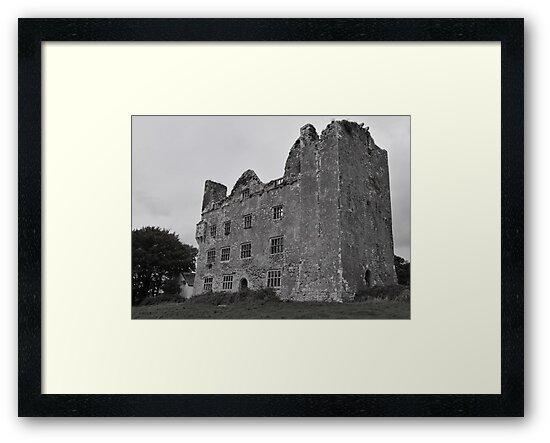 Leamaneh Castle - County Clare Ireland by Sean  Carroll