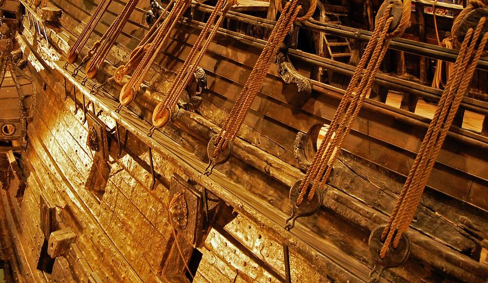Old wooden ship detail by Steve Björklund