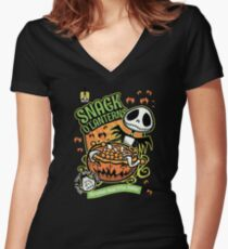 Snack O'Lanterns! Women's Fitted V-Neck T-Shirt