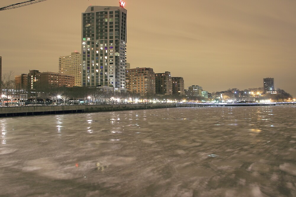 Hudson River Ice Hoboken NJ by pmarella