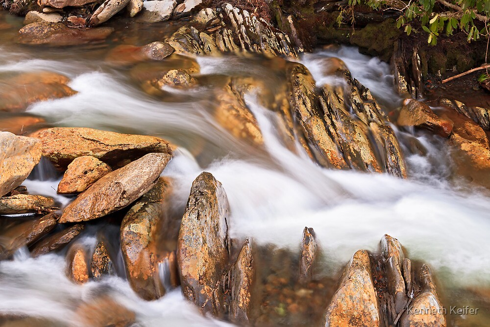 Rocks and Whitewater by Kenneth Keifer