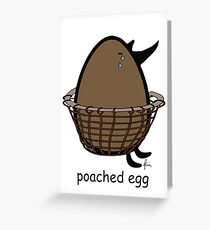 poached egg Greeting Card