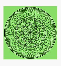 Leafy Mandala Photographic Print