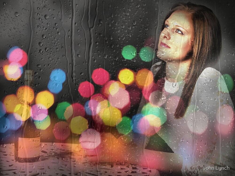Girl in restaurant window by John Lynch