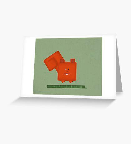 Squarrel Greeting Card