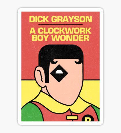 A Clockwork Boy Wonder Sticker