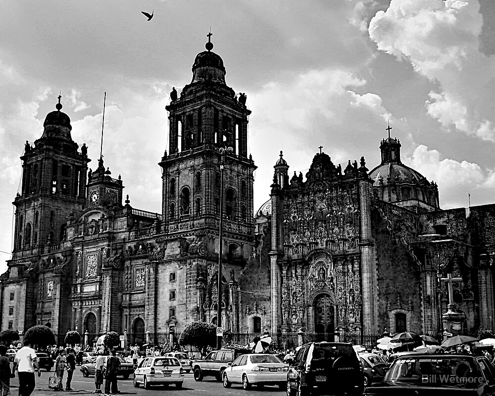 Zócalo Cathedral by Bill Wetmore