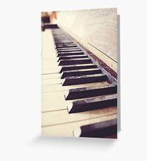 Vintage piano Greeting Card
