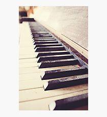 Vintage piano Photographic Print