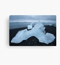 Henry Moore on ice Canvas Print