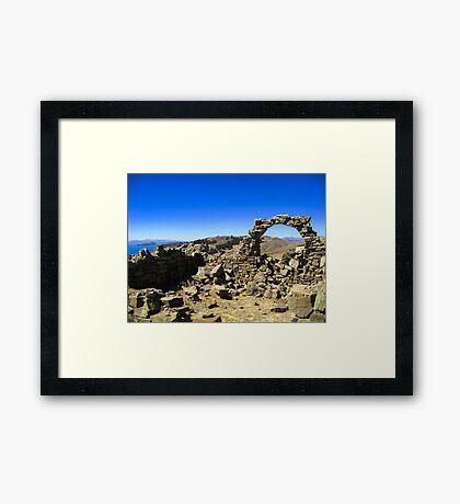 Atop Isla del Sol Framed Print