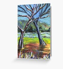 Sketching Trees Greeting Card