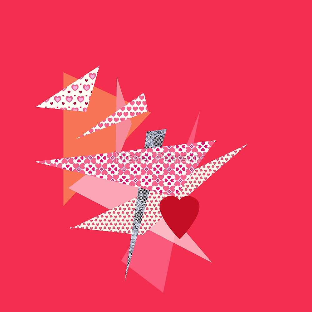 Valentines Abstract by Nicola  Pearson