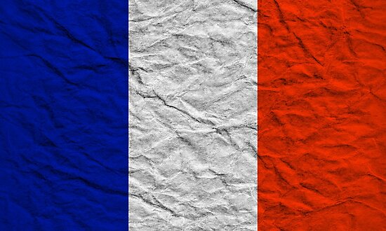 distressed french flag by maydaze